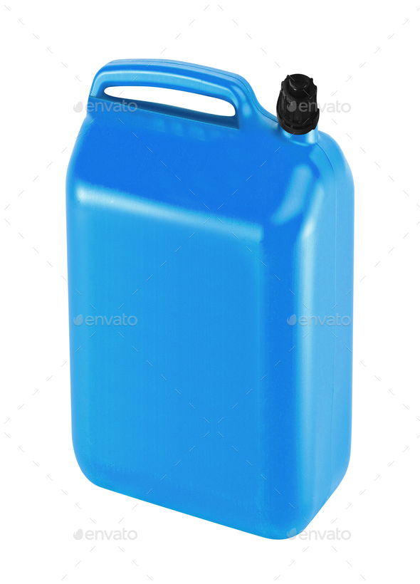 nice blue canister - Stock Photo - Images