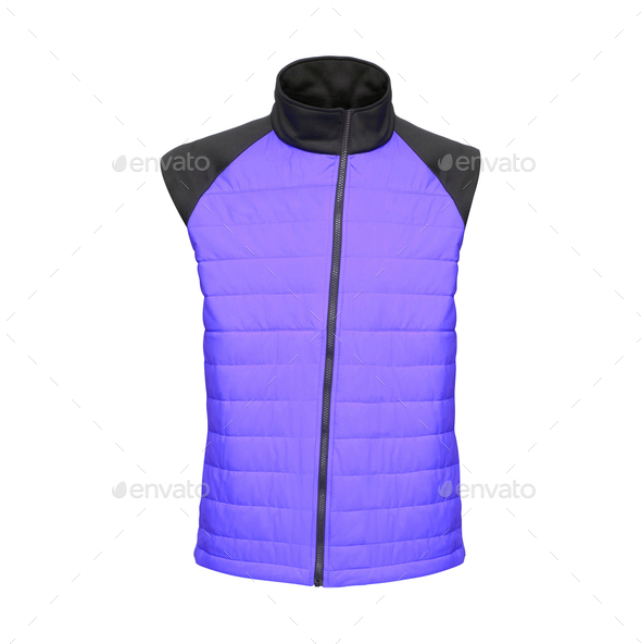 Bodywarmer Blue - Stock Photo - Images