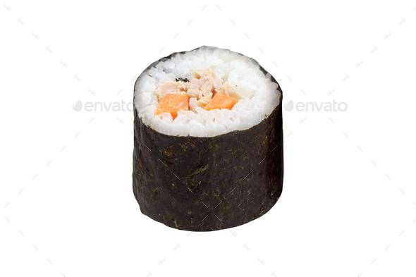 sushi roll isolated on white background - Stock Photo - Images