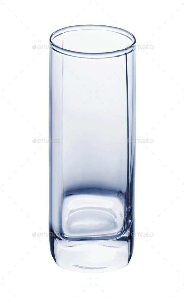Empty glass for water isolated - Stock Photo - Images