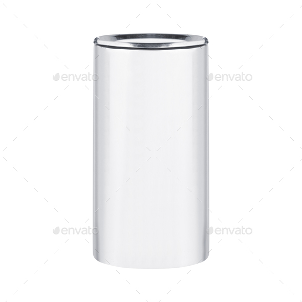 White Blank Tincan isolated - Stock Photo - Images