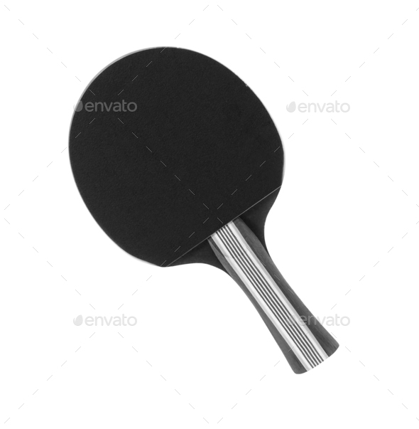 Pingpong racket isolated on white background - Stock Photo - Images