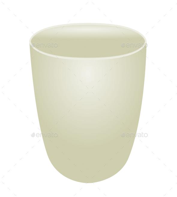 White ceramic bowl on white background - Stock Photo - Images