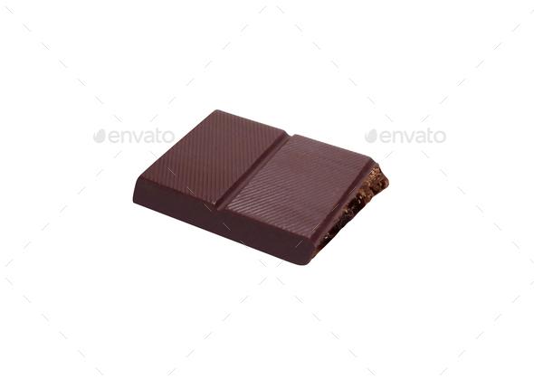 chocolate bars isolated on white - Stock Photo - Images