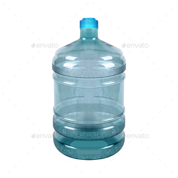 Big bottle of water isolated on a white - Stock Photo - Images