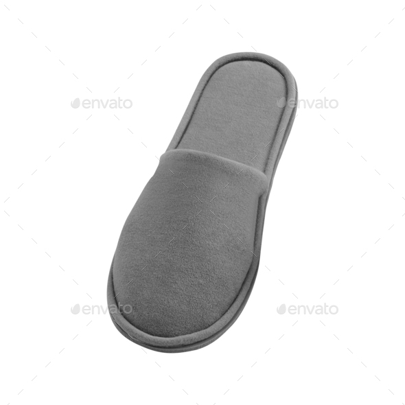 slipper on a white background - Stock Photo - Images