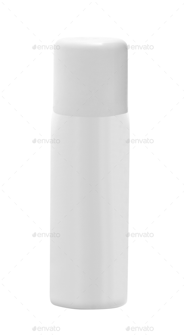 White container of spray bottle isolated - Stock Photo - Images