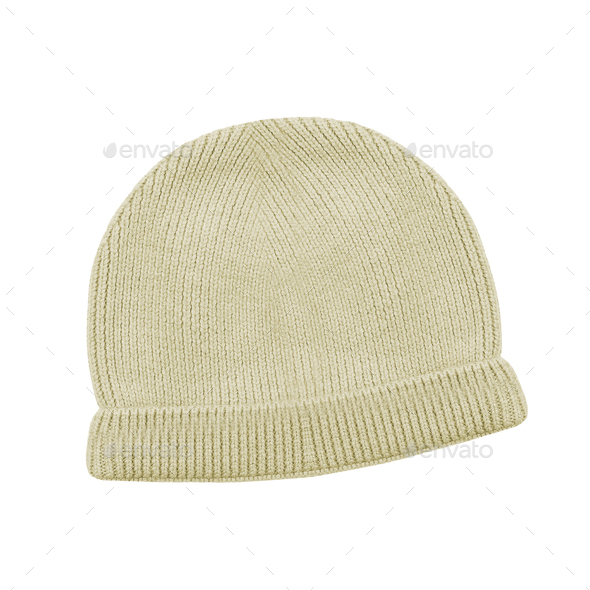 Wool knitted winter hat - Stock Photo - Images