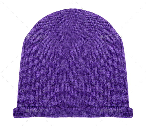 purple hat on a white background - Stock Photo - Images