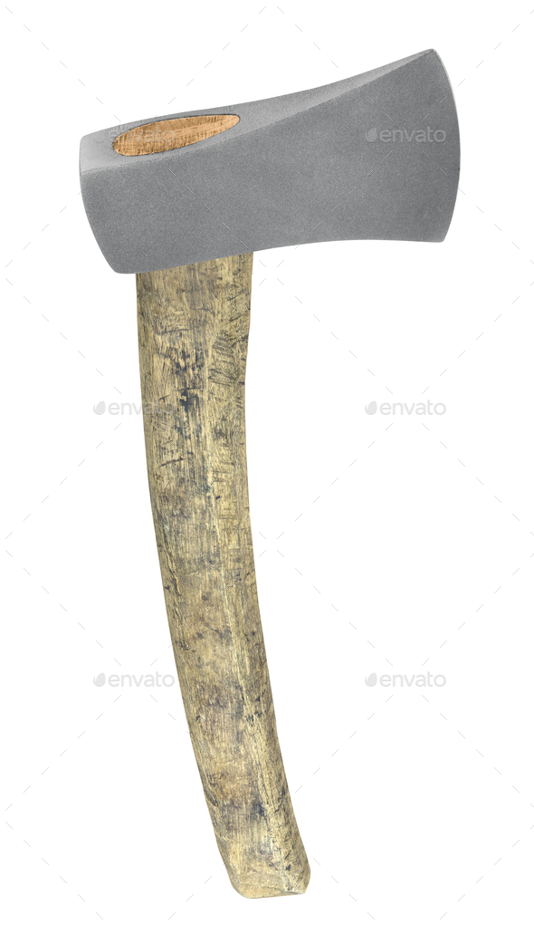 old axe isolated on white - Stock Photo - Images