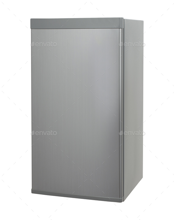 Modern Refrigerator isolated - Stock Photo - Images