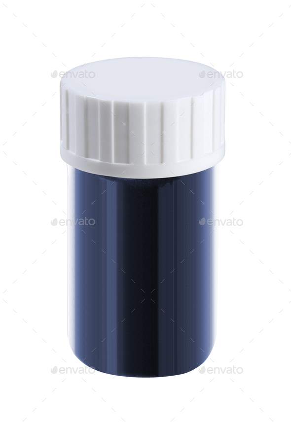 Plastic Jar With Cap On White Background - Stock Photo - Images