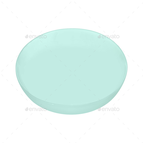 plastic plate isolated on white background - Stock Photo - Images