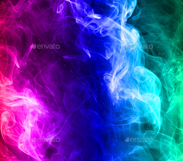 Multicolored smoke - Stock Photo - Images