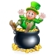 St Patricks Day Leprechaun and Pot of Gold - GraphicRiver Item for Sale