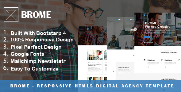 Brome - Responsive Html5 Digital Agency Template
