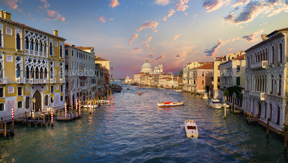 Boat at Grand Canal - Stock Photo - Images