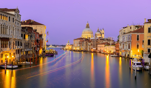 Calm night in Venice - Stock Photo - Images