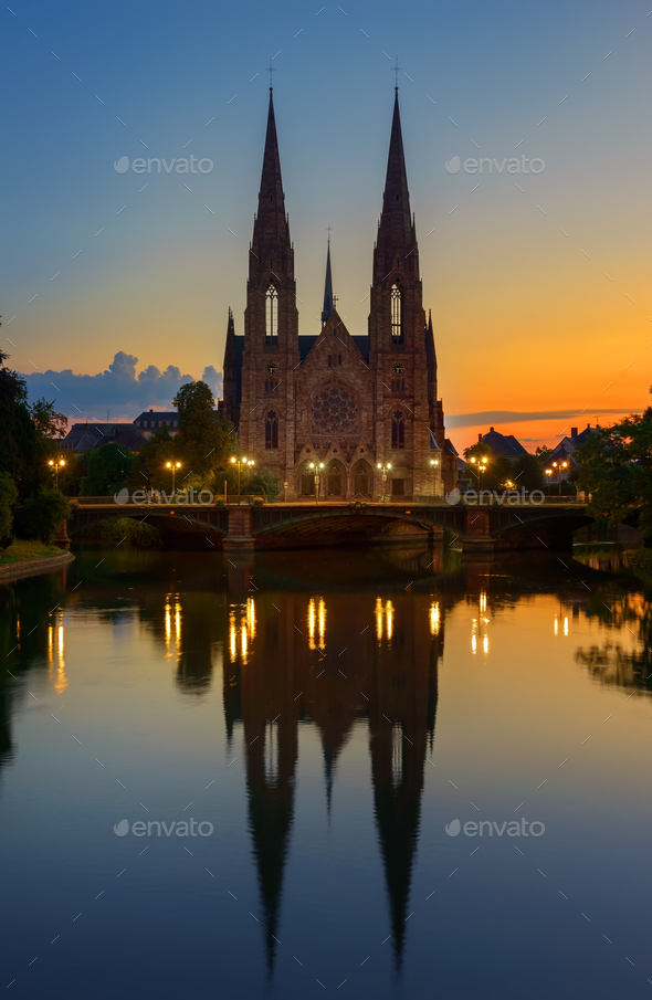 Church in Strasbourg - Stock Photo - Images