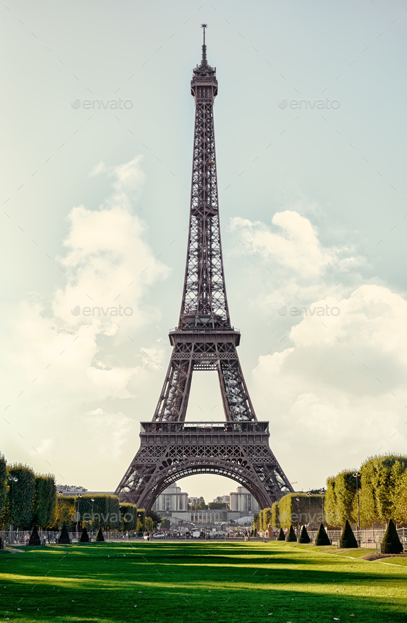 Eiffel Tower Sepia - Stock Photo - Images
