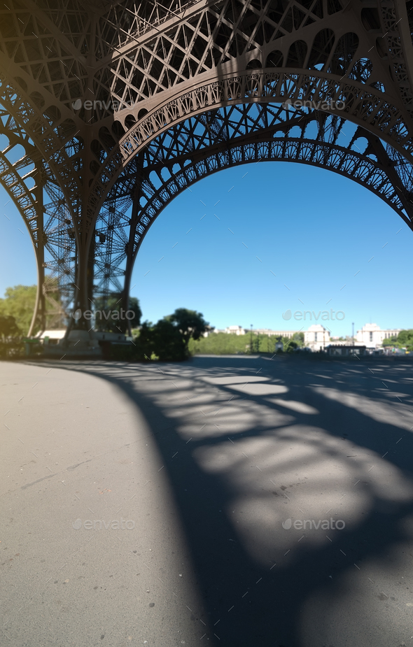 Eiffel tower view inside - Stock Photo - Images