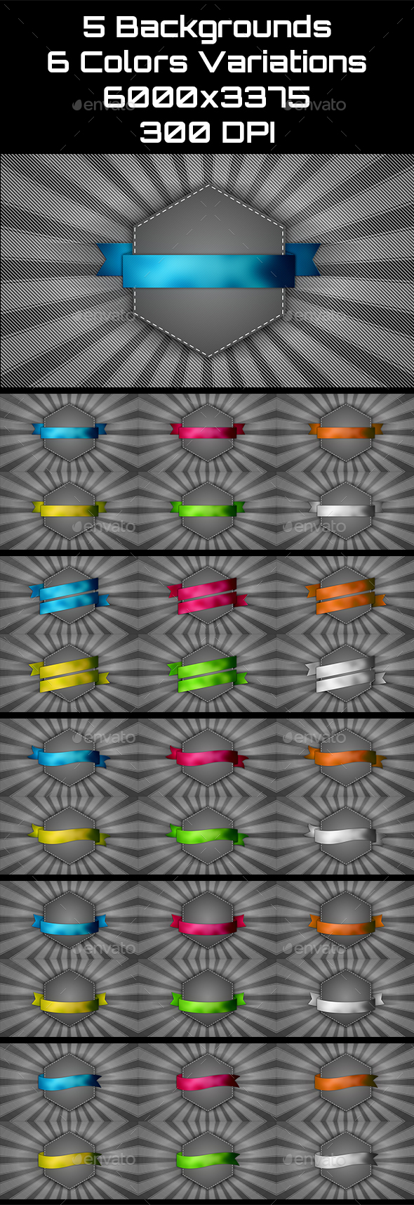 5 Badges Backgrounds - Backgrounds Graphics