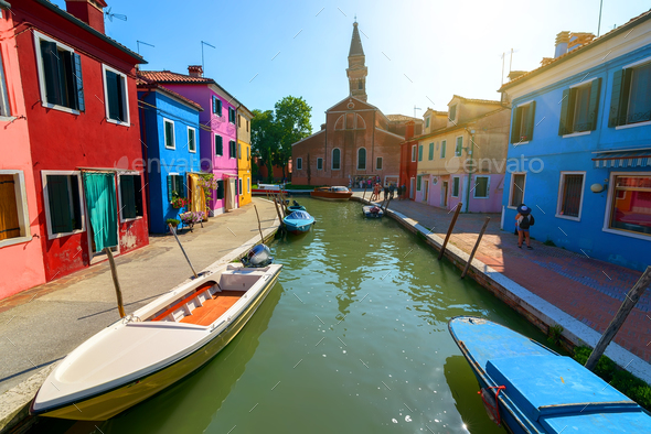 Houses in Burano - Stock Photo - Images