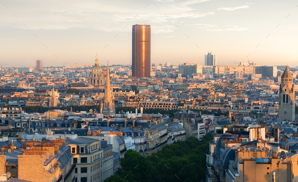 Panoramic view of Paris - Stock Photo - Images