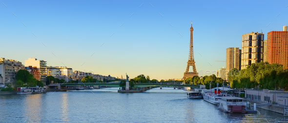 Panoramic view Paris - Stock Photo - Images