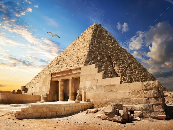 Pyramid near Giza - Stock Photo - Images