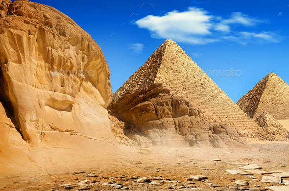Pyramids in the day - Stock Photo - Images
