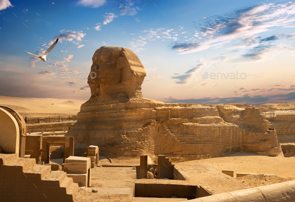 Sphinx and Giza - Stock Photo - Images