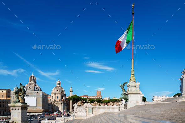 Staircase of Vittoriano palace - Stock Photo - Images