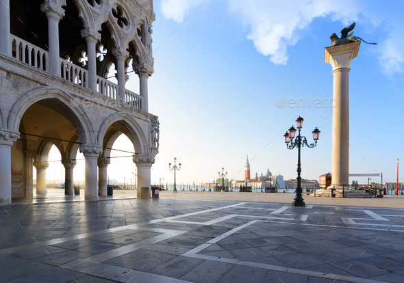 Venice at sunrise - Stock Photo - Images