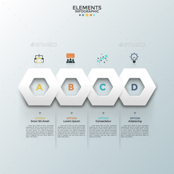 Modern Futuristic Polygon Template - Infographics