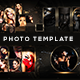 Golden Photo Frame Template