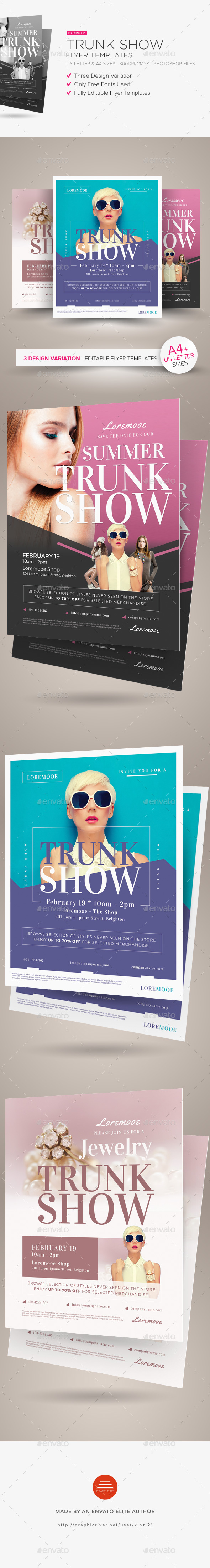 Trunk Show Flyer Templates - Miscellaneous Events