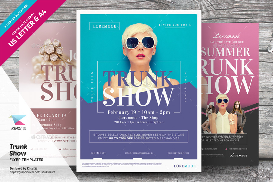 Trunk Show Flyer Templates By Kinzi21 Graphicriver