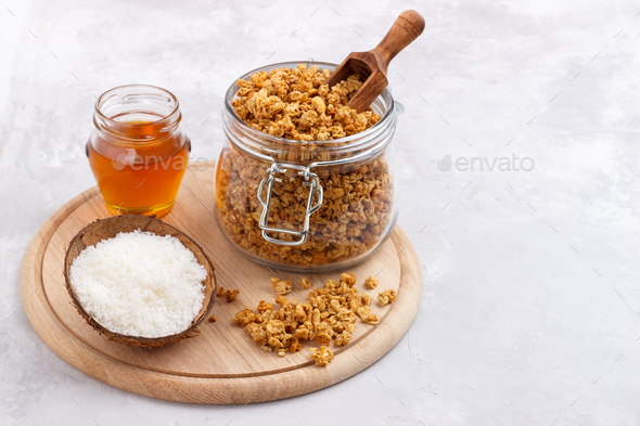 Home made Granola  - Stock Photo - Images