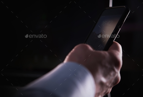 Hand with Smartphone Closeup - Stock Photo - Images