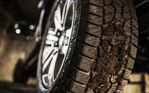 Proper Pickup Tire - Stock Photo - Images