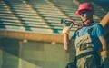 Caucasian Builder with Tools - PhotoDune Item for Sale