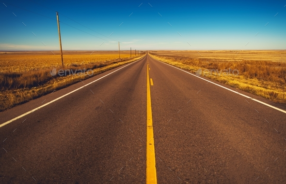 Colorado Plains Highway - Stock Photo - Images