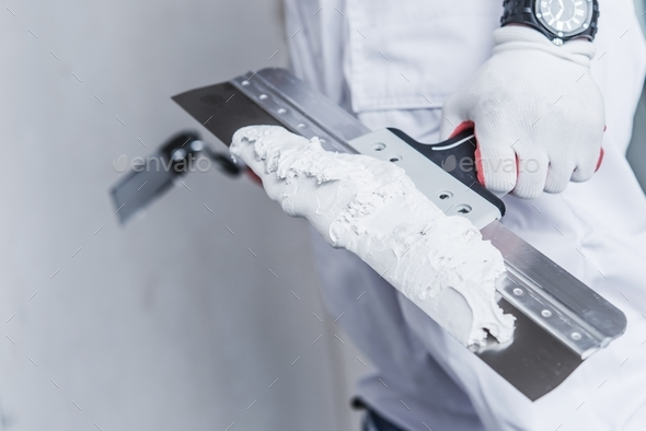 Preparing For Drywall Patch - Stock Photo - Images
