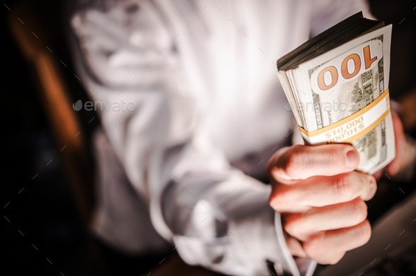 Cash Money Giveaway - Stock Photo - Images