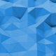Blue Polygonal Geometric Loop - VideoHive Item for Sale