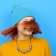 Hipster Girl Wearing a Hat and Dancing - VideoHive Item for Sale