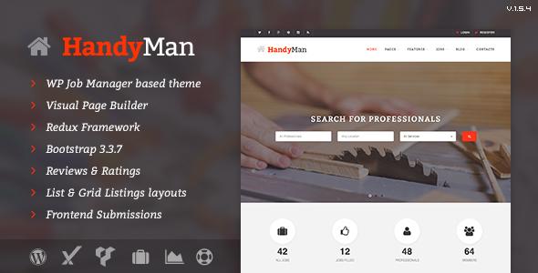 Handyman - Job Board WordPress Theme - Directory & Listings Corporate