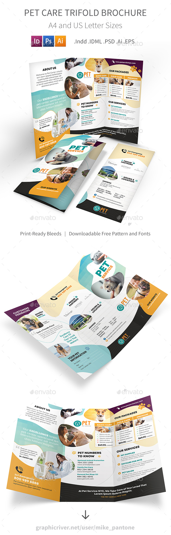 Pet Care Trifold Brochure 7 - Informational Brochures