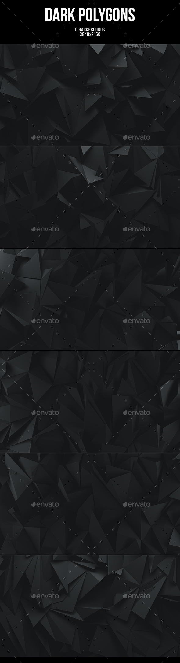 Dark Polygons Backgrounds - Abstract Backgrounds